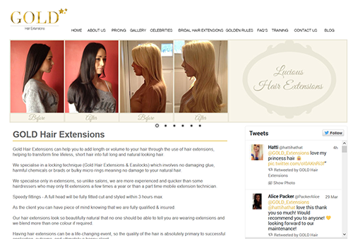 Gold Hair Extensions